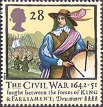 350th Anniversary of the Civil War 28p Stamp (1992) Drummer