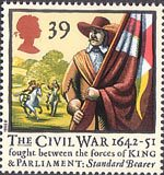 350th Anniversary of the Civil War 39p Stamp (1992) Standard Bearer