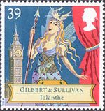150th Birth Anniversary of Sir Arthur Sullivan (composer), Gilbert and Sullivan Operas 39p Stamp (1992) Iolanthe