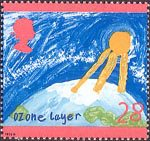 Protection of the Environment. Children's Paintings 28p Stamp (1992) Ozone Layer