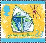Protection of the Environment. Children's Paintings 33p Stamp (1992) Greenhouse Effect