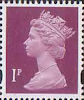 Definitives 1p Stamp (1993) crimson