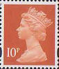 Definitives 10p Stamp (1993) dull orange