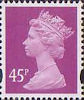 Definitives 45p Stamp (1993) bright mauve