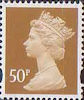Definitives 50p Stamp (1993) ochre