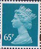 Definitives 65p Stamp (1993) greenish blue