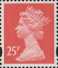 Definitive 25p Stamp (1993) Rose Red