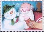 Greetings Stamps - Giving 1st Stamp (1993) Snowman (The Snowman) and Father Christmas (Father Christmas)