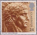 Roman Britain 24p Stamp (1993) Emperor Claudius (from gold coin)