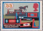 Inland Waterways 33p Stamp (1993) Valley Princess and other Horse-drawn barges, Brecknock and Abergavenny Canal