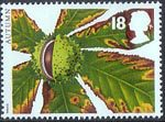 The Four Seasons. Autumn 18p Stamp (1993) Horse Chestnut
