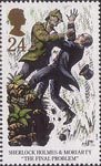 Sherlock Holmes 24p Stamp (1993) The Final Problem