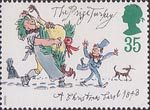 Christmas 35p Stamp (1993) The Prize Turkey