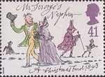 Christmas 41p Stamp (1993) Mr Scrooge's Nephew