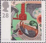 Europa - Art in the 20th Century 28p Stamp (1993) 'Kew Gardens' (lithograph) (Edward Bawden)
