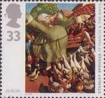 Europa - Art in the 20th Century 33p Stamp (1993) 'St Francis and the Birds' (Stanley Spencer)
