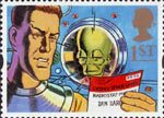 Greetings - Messages 1st Stamp (1994) Dan Dare and the Mekon