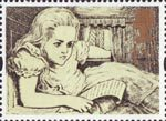 Greetings - Messages 1st Stamp (1994) Alice (Alice in Wonderland)