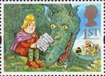 Greetings - Messages 1st Stamp (1994) Noggin and the Ice Dragon
