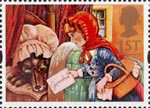 Greetings - Messages 1st Stamp (1994) Red Riding Hood and Wolf