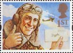 Greetings - Messages 1st Stamp (1994) Biggles