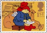 Greetings - Messages 1st Stamp (1994) Paddington Bear on Station