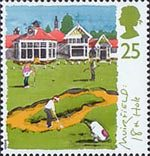 Scottish Golf Courses 25p Stamp (1994) The 18th Hole, Muirfield