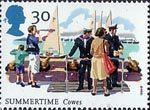 The Four Seasons. Summertime Events 30p Stamp (1994) Cowes Week