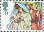 Christmas. Children's Nativity Plays 19p Stamp (1994) Virgin Mary and Joseph