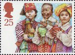 Christmas. Children's Nativity Plays 25p Stamp (1994) Three Wise Men