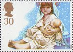 Christmas. Children's Nativity Plays 30p Stamp (1994) Virgin and Child