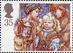 Christmas. Children's Nativity Plays 35p Stamp (1994) Shepherds