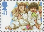 Christmas. Children's Nativity Plays 41p Stamp (1994) Angels