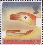 Europa. Peace and Freedom 19p Stamp (1995) Symbolic Hands and Red Cross