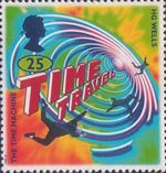 Science Fiction. Novels by H.G. Wells 25p Stamp (1995) The Time Machine