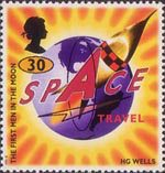 Science Fiction. Novels by H.G. Wells 30p Stamp (1995) The First Men in the Moon