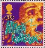 Science Fiction. Novels by H.G. Wells 35p Stamp (1995) The War of the Worlds