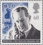 Communications 60p Stamp (1995) Marconi and Sinking of Titanic (liner)