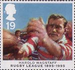Centenary of Rugby League 19p Stamp (1995) Harold Wagstaff
