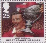 Centenary of Rugby League 25p Stamp (1995) Gus Risman