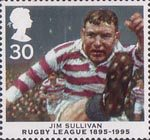 Centenary of Rugby League 30p Stamp (1995) Jim Sullivan
