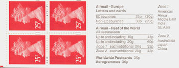 Booklet pane for 50th Anniversary of End of Second World War (1995)