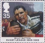 Centenary of Rugby League 35p Stamp (1995) Billy Batten