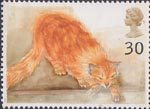 Cats 30p Stamp (1995) Choe (ginger cat)