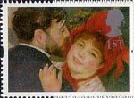 Greetings Stamp. 'Greetings in Arts' 1st Stamp (1995) 'La Danse a la Campagne' (Renoir)