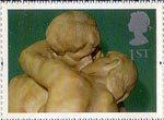 Greetings Stamp. 'Greetings in Arts' 1st Stamp (1995) 'The Kiss' (Rodin)