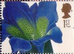 Greetings Stamps. 19th-century Flower Paintings 1st Stamp (1997) Gentiana acaulis (Georg Ehret)