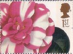 Greetings Stamps. 19th-century Flower Paintings 1st Stamp (1997) Camelia japonica (Alfred Chandler)