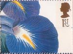 Greetings Stamps. 19th-century Flower Paintings 1st Stamp (1997) Iris latifolia (Ehret)