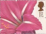 Greetings Stamps. 19th-century Flower Paintings 1st Stamp (1997) Hippeastrum rutilum (Pierre-Joseph Redoute)